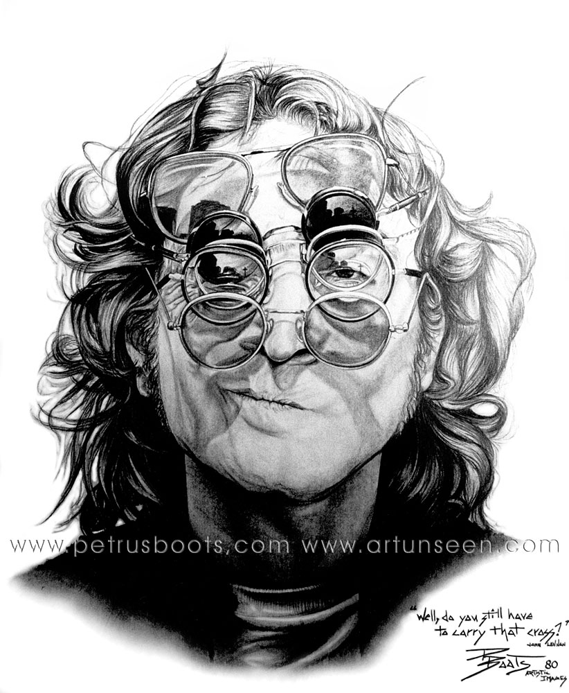 Line Drawing John Lennon : The art of petrus boots john lennon graphite pencil